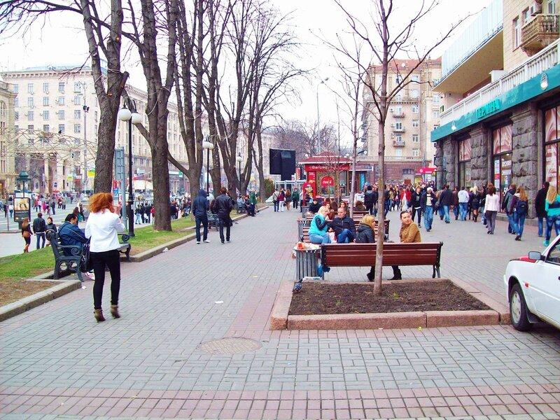Пешеходная зона Крещатика