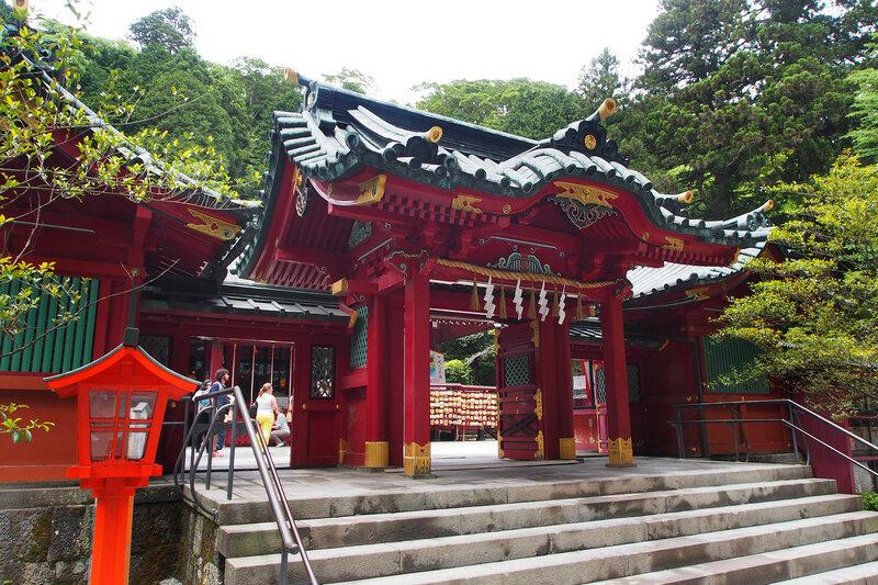 Ворота. Синтоистское святилище Хаконе-дзиндзя