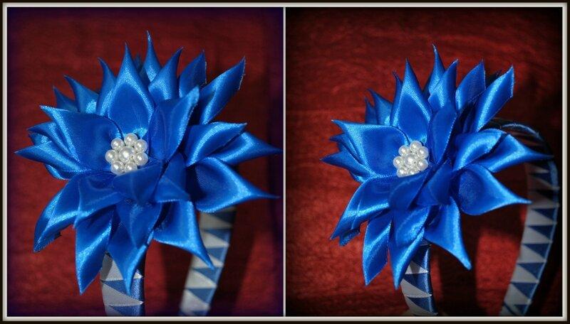 Цветок синий своими руками