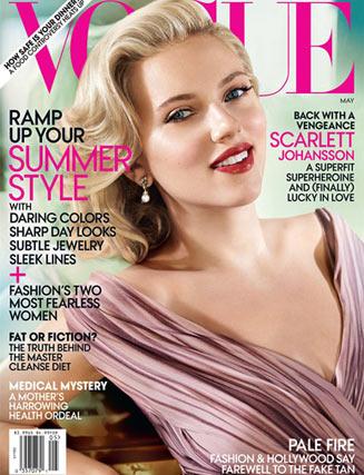 Scarlett Johansson / Скарлетт Йоханссон на обложке журнала Vogue US, май 2012 / фотограф Mario Testino