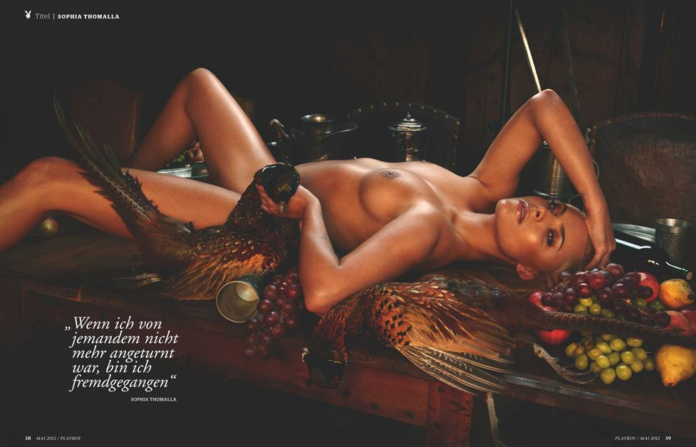 Немецкая актриса София Томалла (Sophia Thomalla) в журнале Playboy Германия, май 2012