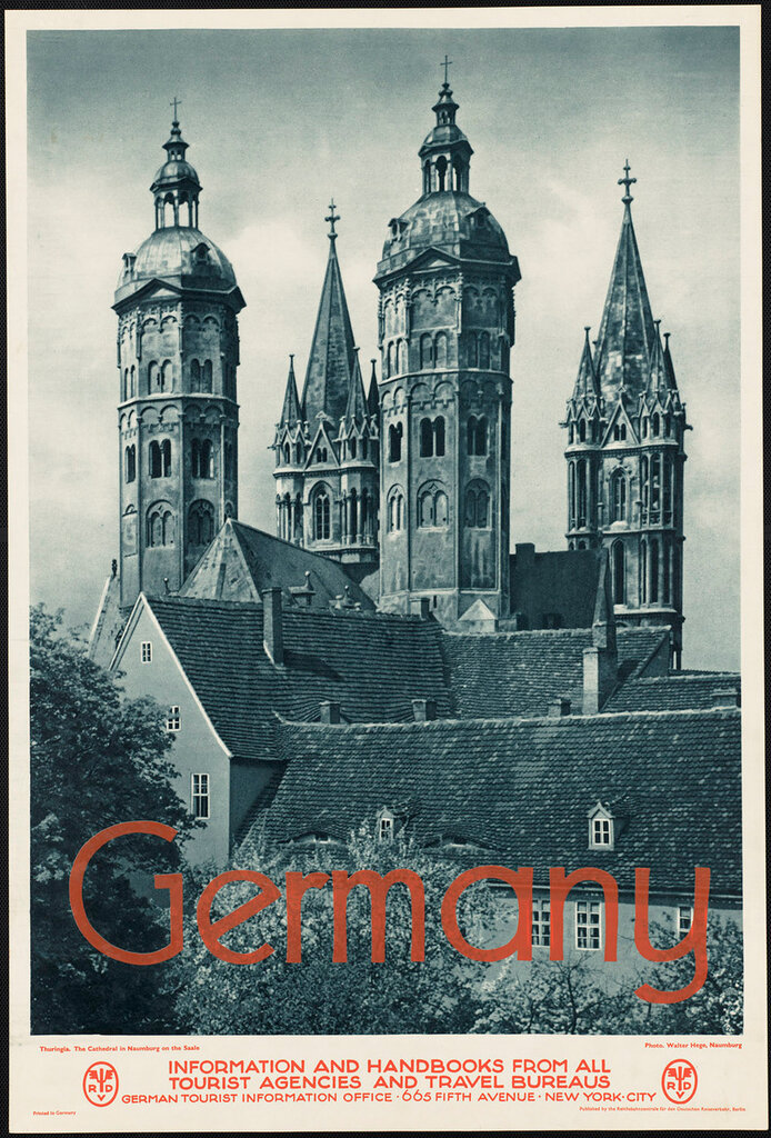 Travel posters Germany. photographer Hege, Walter, 1893-1955