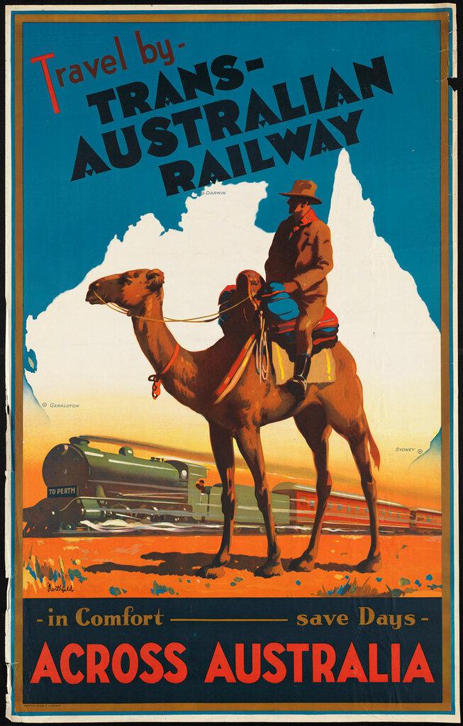 Travel posters across Australia 1930