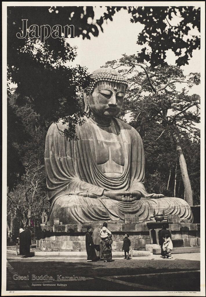 Japan. Great Buddha, Kamakura 1910-1959