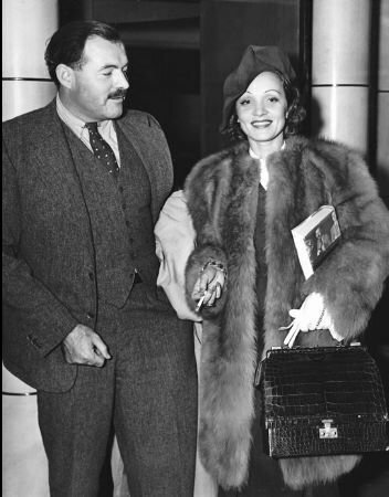Ernest  Hemingvay and Marlene Dietrich