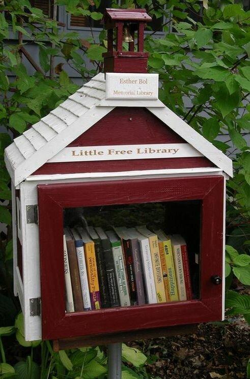 Домики с книгами для свободного обмена