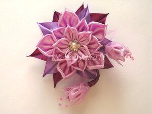 Прекрасные цветы канзаши 0_8daa8_acd642bc_M