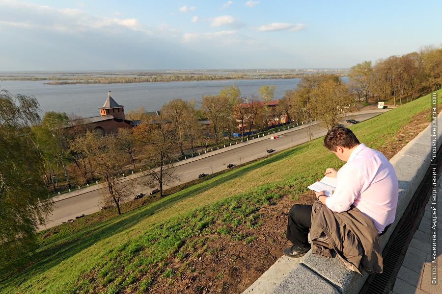 Вид на Волгу из Нижегородского Кремля
