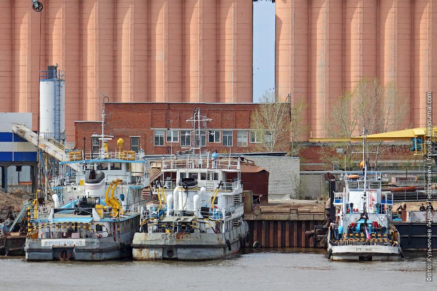 Буксир-толкач «Дунайский-43» (проект 112, 1964 год постройки), буксир-толкач «ОТ-816» (проект 758, 1959 год постройки), буксир-толкач «РТ-366» (проект 911В, 1980 год постройки)