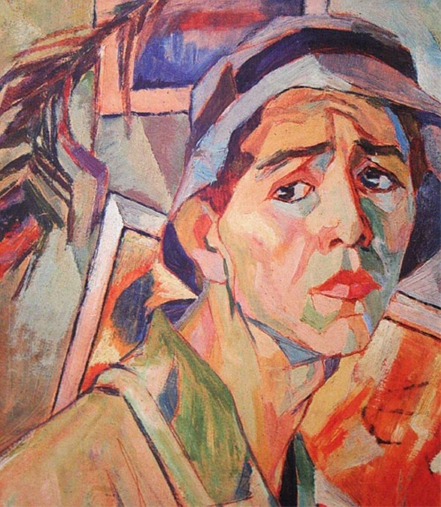 Автопортрет в панаме. 1920-130-е годы. Дейнека А.А. (1899-1969)