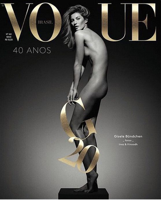 Жизель Бюндхен разделась для Vogue