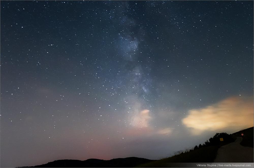 Звездное небо на платоАй-Петри