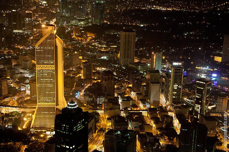 вид на Куала Лумпур с телевышки