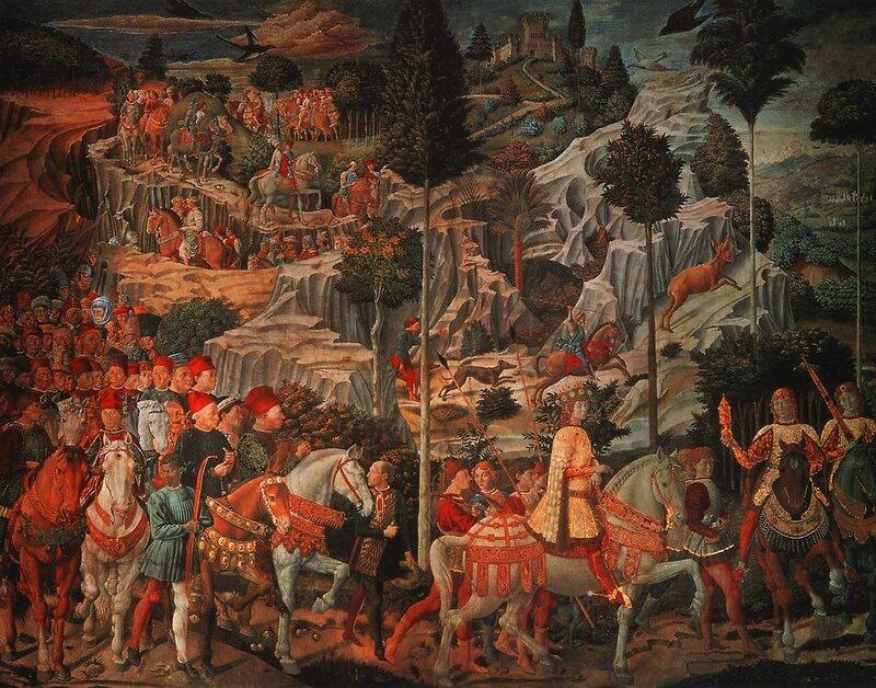 Гоццоли Беноццо, Шествие волхвов (роспись на вилле Медичи)