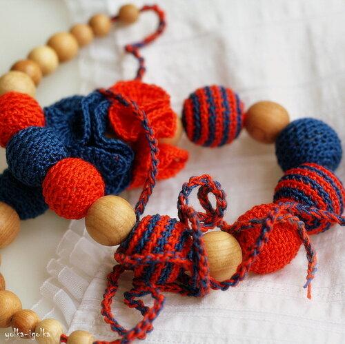 Слингобусы оранжево-синие