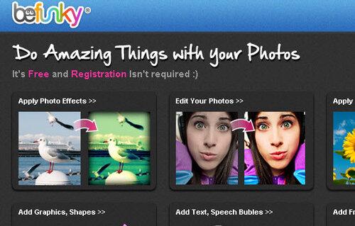 BeFunky - онлайн-сервис обработки фотографий