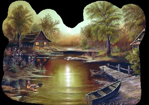 Анимация деревня на прозрачном фоне — Tekos72.ru