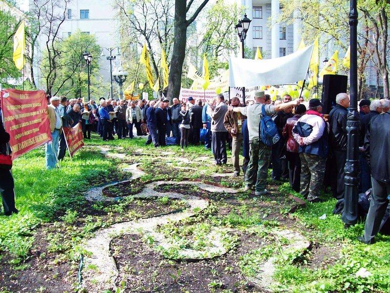 Лозунги митинга чернобыльцев