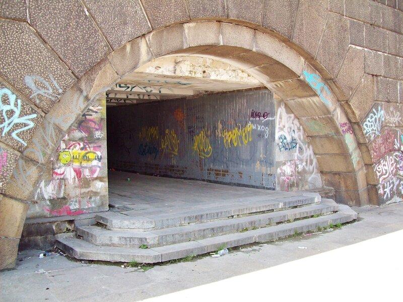 Подземный переход на месте крещения Руси