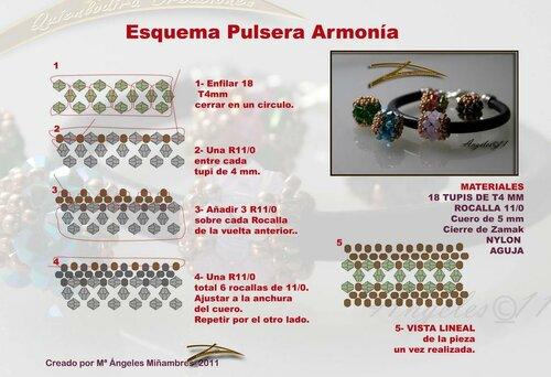 Бусина плетеная из биконусов и бисера.  Схема.  Источник.