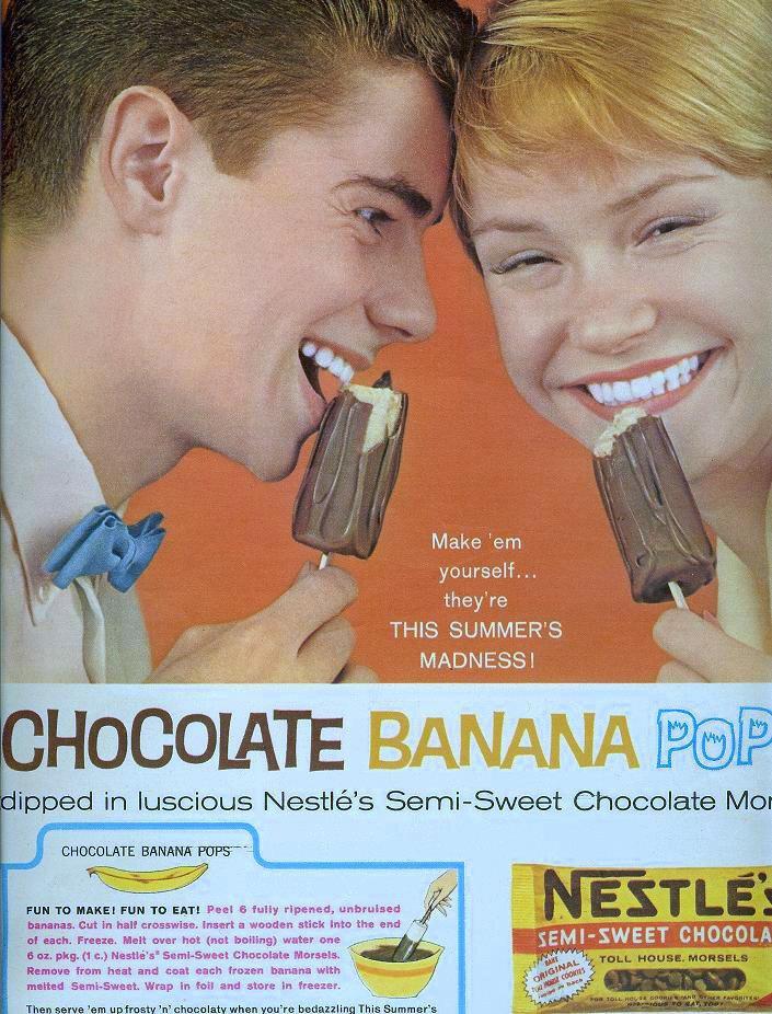 Chocolate Banana Pop From Seventeen, July 1961