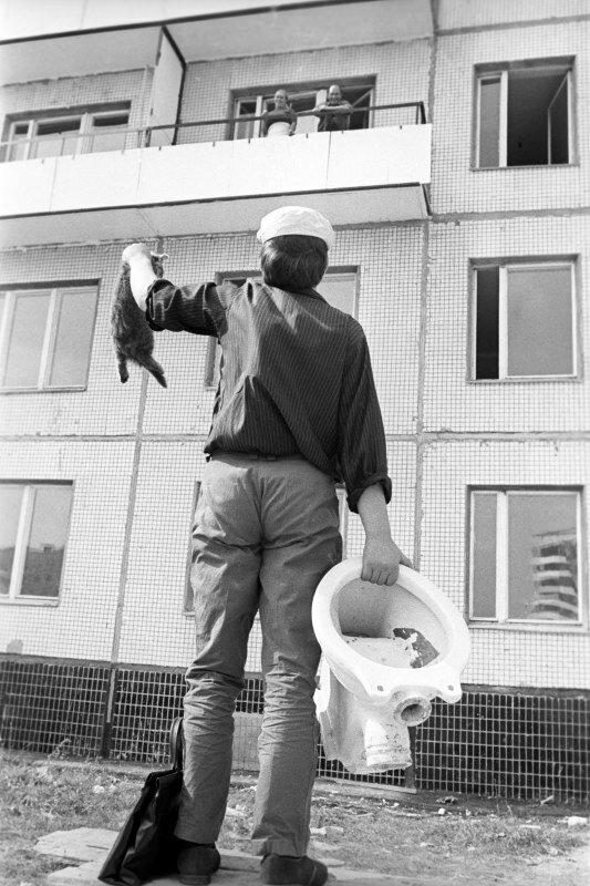 Борис Кавашкин.Новоселы Чертанова.Москва 1973г.