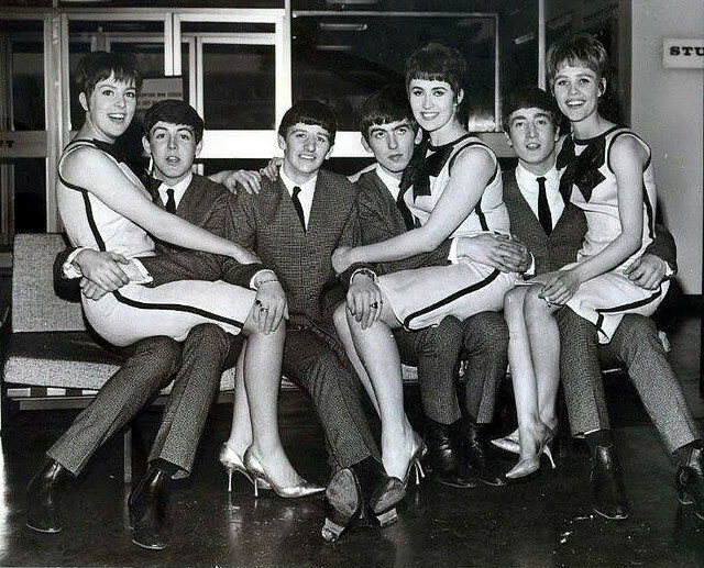 The Beatles with The Vernons Girls in 1963