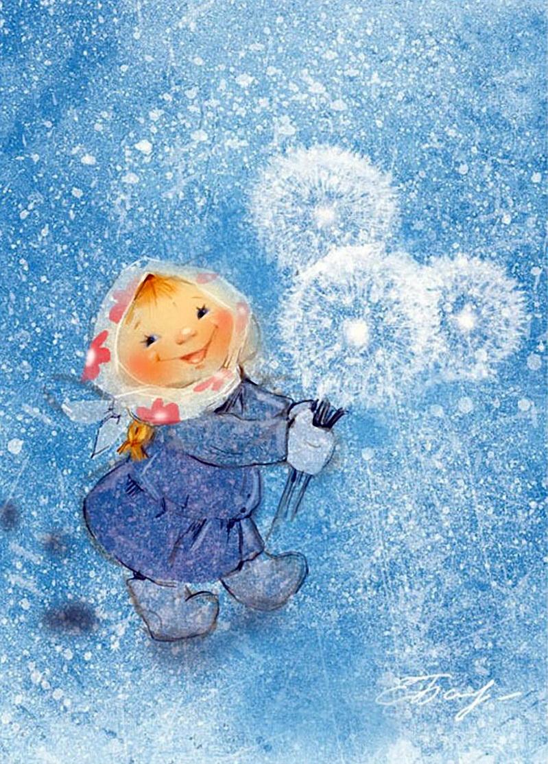 Первый снег сказочные картинки