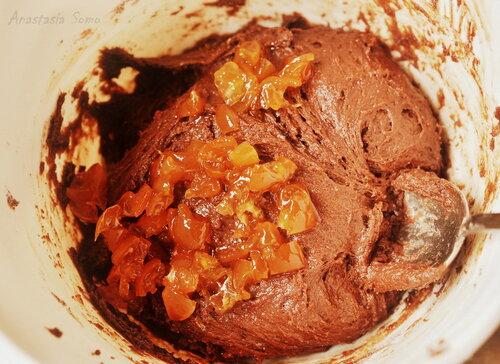 Шоколадное печенье с вареньем (тесто 2)