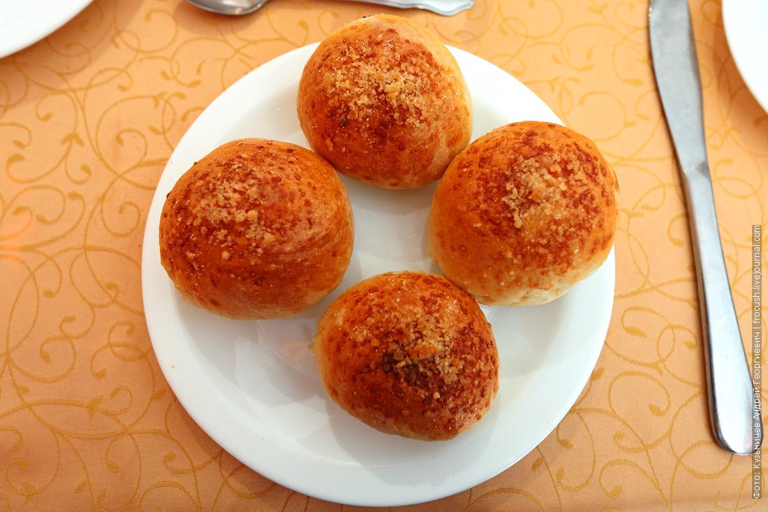 еда в ресторане теплохода Булочка «Московская»