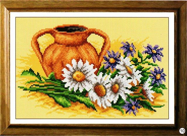 """Оригинал - Схема вышивки  """"Цветы и кувшин """" - Схемы автора  """"palena29 """" - Вышивка крестом."""