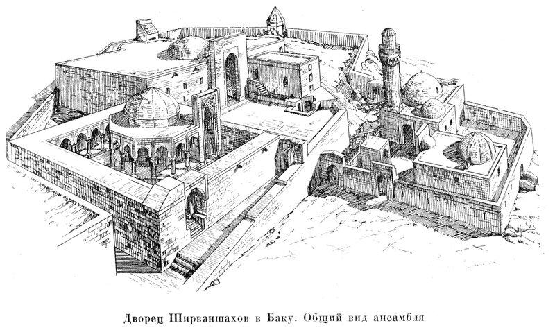 Дворец Ширваншахов в Баку, общий вид