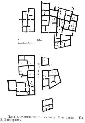 Энеолитическое жилище Шенгавита, план