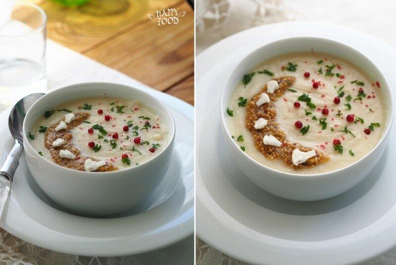 Суп пюре из цветной капусты с горчицей