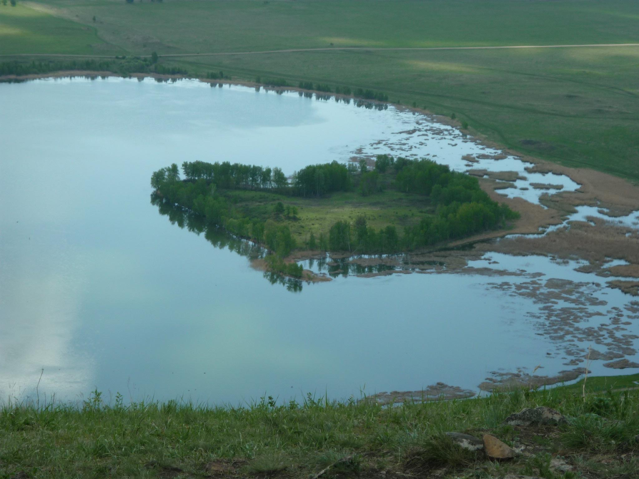 ″Плавающий″ остров на Аушкуль (03.07.2015)