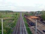 Саранск 2014. Железная дорога с моста по ул.А.Невского