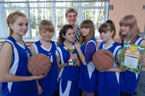 Команда МСШ № 1 по баскетболу. Тренер И. Н. Розова