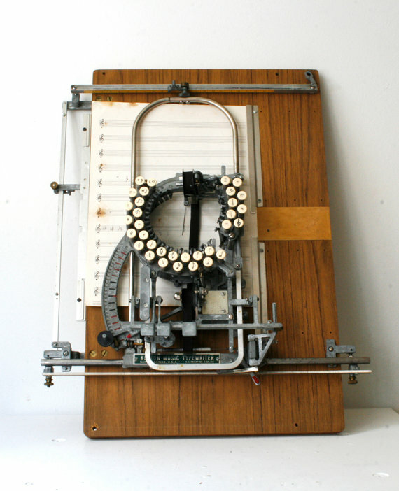Keaton Music Typewriter.