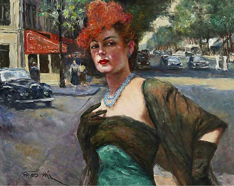 Вернисаж художника - Pal Fried (1893-1976)