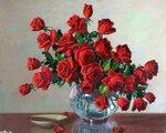 A.D.Greer, букет алых роз