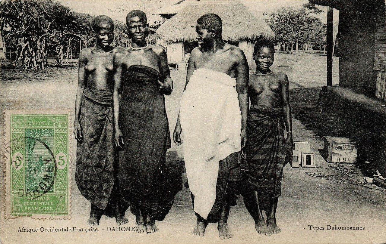 Дагомея.  Типы местных женщин