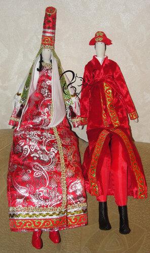 Казахские национальные свадебные костюмы