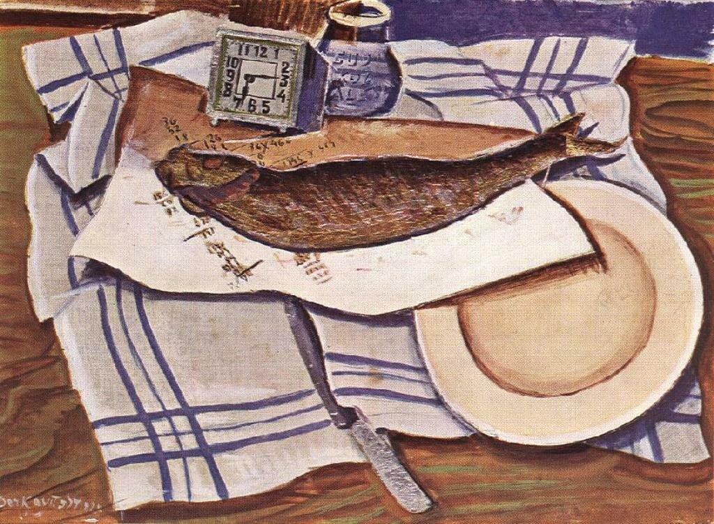 Натюрморт с рыбой 1928, Деркович Дьюла (1894-1934)