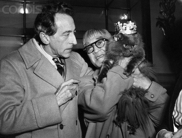 Jean Cocteau and Fujita Tsuguji with Cat Show Winner