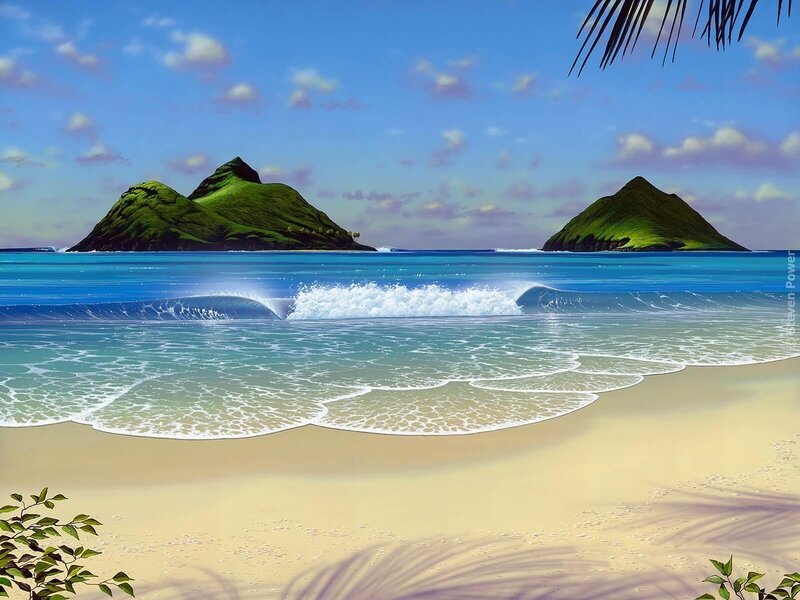 Винтаж, остров картинка анимация