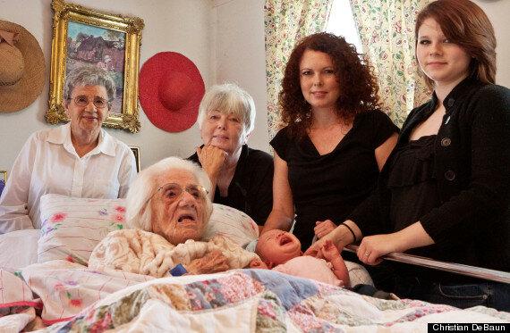 Иногда так случается, что шесть поколений встречаются
