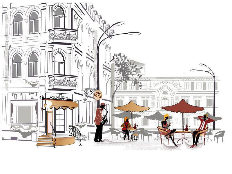 Старое уличное кафе. Обсуждение на LiveInternet - Российский…