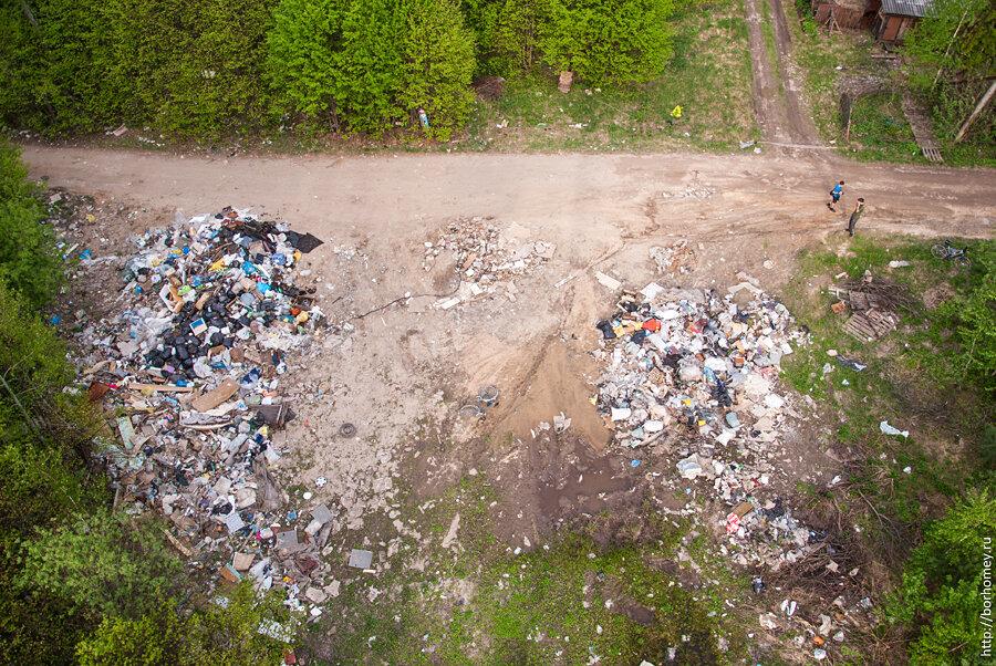 свалка мусора саров