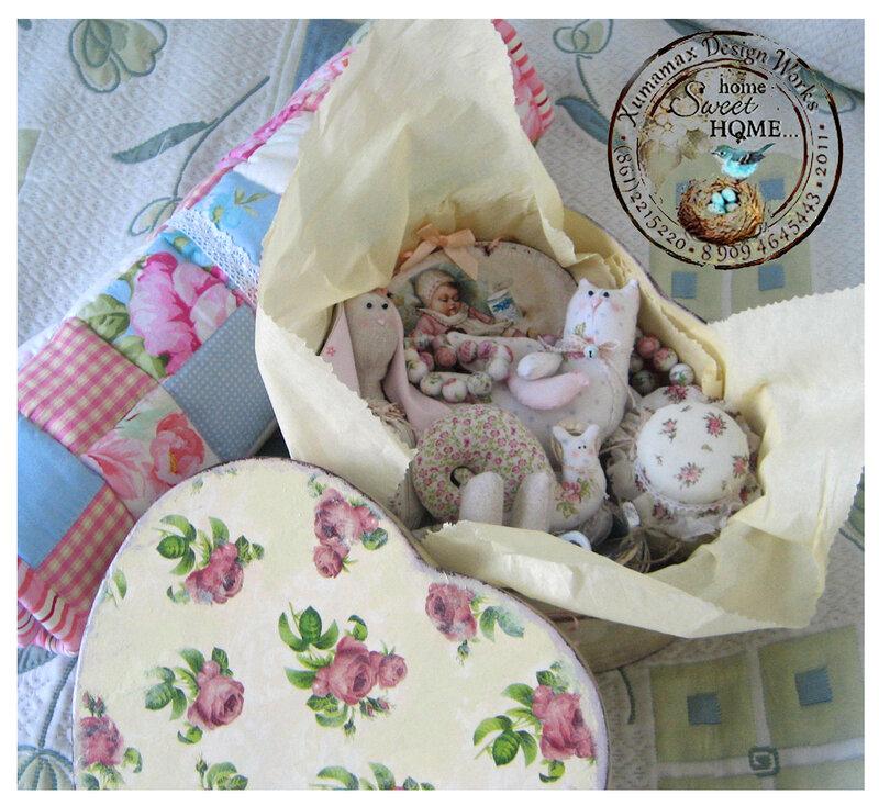 комплект подарочный на рождение малышки в коробке.