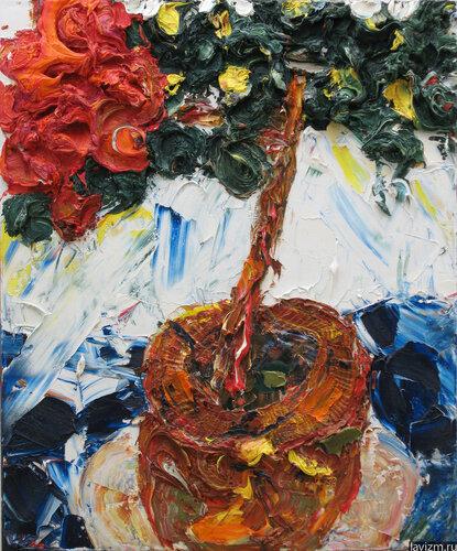 Картина Красная Азалия Екатерина Лебедева художница